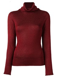 Alice Olivia Turtle Neck Jumper Red