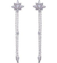 Carat London Camelia White Gold Plated Sterling Silver Earrings