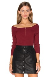 525 America 3 4 Sleeve Off Shoulder Sweater Red