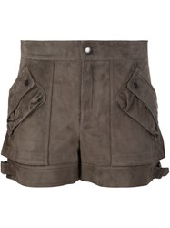 Helmut Lang Cargo Pocket Shorts Brown