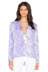 Karina Grimaldi Pilar Print Top Purple