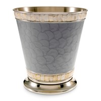 Julia Knight Classic Waste Basket Platinum