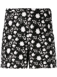 Giambattista Valli Printed Shorts Women Silk Cotton Polyamide Polyester 42 Black