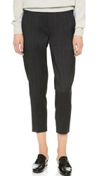 Donna Karan Menswear Creased Trousers Charcoal
