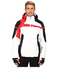 Spyder Titan Jacket White Black Red Men's Coat