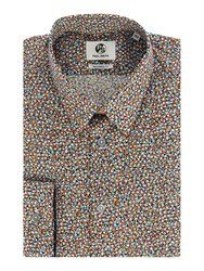 Paul Smith Men's Ps By Micro Marble Print Shirt Multi Coloured Multi Coloured