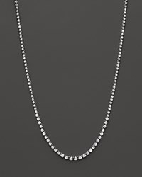 Bloomingdale's Diamond Graduated Tennis Necklace In 14K White Gold 4.0 Ct. T.W. 100 Exclusive