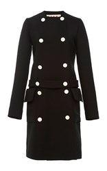 Marni Belted Double Face Wool Coat Black