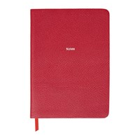 Organise Us 'Notes' Medium Leather Notebook Cherry Red