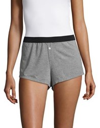 Design Lab Lord And Taylor Heathered Boxer Shorts Heather Grey