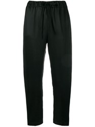Semicouture Drawstring Tapered Trousers Black