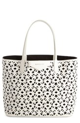 Givenchy Antigona Leather Shopper White White Black