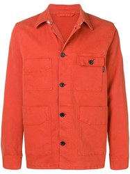 Paul Smith Ps By Denim Shirt Jacket Orange