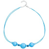 Martick Silver Plated Murano Glass Bon Bon Necklace Turquoise