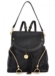 See By Chloe Olga Large Black Leather Backpack
