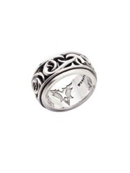 Stephen Webster Rotating Silver Ring Silver Black
