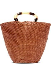 Loeffler Randall Agnes Woven Leather Tote Brown