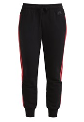 Adidas Performance Tracksuit Bottoms Black Core Pink
