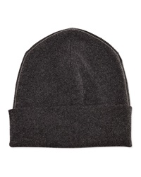 Brunello Cucinelli Cashmere Ribbed Hat W Monili Trim Volcano