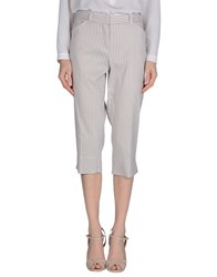Jeans Les Copains Trousers 3 4 Length Trousers Women Grey