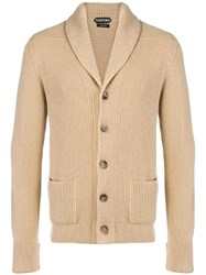 Tom Ford Buttoned Cardigan Nude And Neutrals