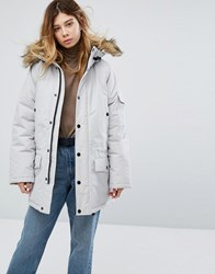 Carhartt Wip Anchorage Parka Jacket With Fur Trimmed Hood Cream