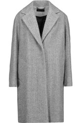 Rag And Bone Ray Wool Alpaca Blend Coat Gray