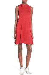 Junior Women's Everly Mock Neck Tank Dress Tango Red
