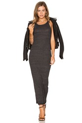 Stateside Rib Maxi Dress Charcoal