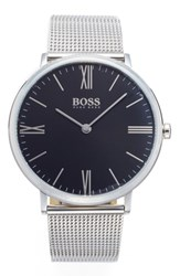 Boss Slim Jackson Mesh Strap Watch 40Mm