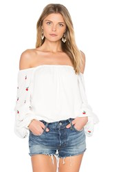 Vava By Joy Han Cherries Top White
