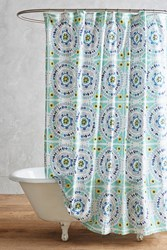 Anthropologie Tegula Shower Curtain Turquoise