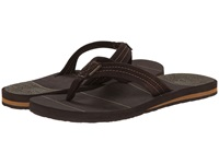 Quiksilver Carver Suede Art Brown Brown Brown Men's Sandals