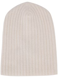 The Elder Statesman Cashmere Summer Cap White