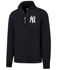 47 Brand '47 Men's New York Yankees Headline Quarter Zip Pullover Navy