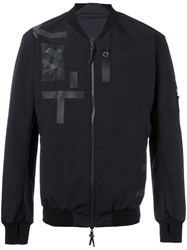 11 By Boris Bidjan Saberi Zip Up Bomber Jacket Black