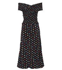 Anna October Polka Dot Off The Shoulder Dress Multicoloured