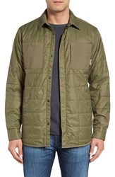Mountain Hardwear Men's Hardware 'Trekkin' Lightweight Quilted Shirt Jacket Stone Green