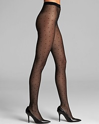 Falke Dot Tights Black