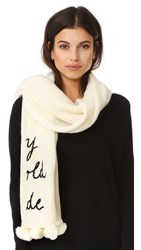 Kate Spade Baby It's Cold Outside Muffler Cream