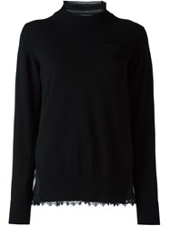 Sacai Layered Jumper Black