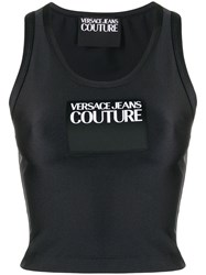 Versace Jeans Couture Logo Patch Cropped Tank Top 60