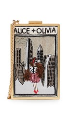 Alice Olivia Sophia Vintage New York Clutch Multi