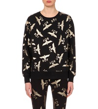 Boy London Gold Toned Motif Sweatshirt Black Gold