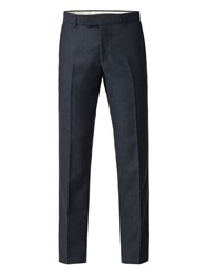 Racing Green Navy Donegal Tailored Trouser Blue