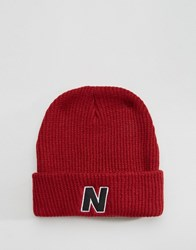 New Balance Compo Beanie Ii Bobble Red