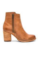 Frye Addie Double Zip Bootie Cognac