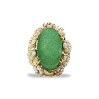Bellus Domina Amare Aventurine Ring Green