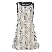 Karl Lagerfeld Women's Fringed Karl Jacquard Dress White
