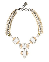 Bcbgmaxazria Deco Statement Necklace Gold